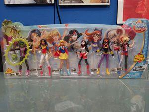 DC Superhero Girls Action Figure collection unique outfits Beast Boy Wonder Woman Supergirl Katana Batgirl Harley Quinn for Sale in San Antonio, TX