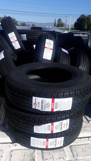 st225 75 r15 trailers tires 4pcs new 10ply $260 for Sale in Lake Elsinore, CA