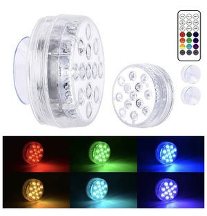 Submersible LED Lights with Suction Cups, Remote (RF), Extra Bright 13 LED Color Changing Waterproof Light Bathtub Lights for Pool, Pond, Hot Tub, Fo for Sale in Orlando, FL