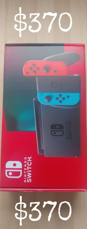 Nintendo Switch Neon Blue and Neon Red V2 for Sale in Los Angeles, CA