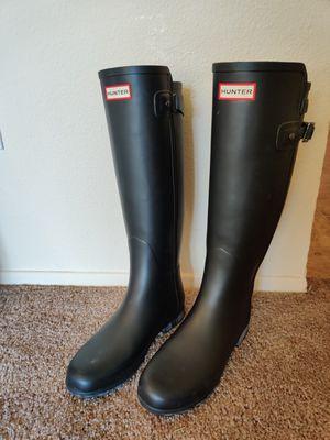 Sz 8 Hunter boots Matte Black for Sale in Gig Harbor, WA