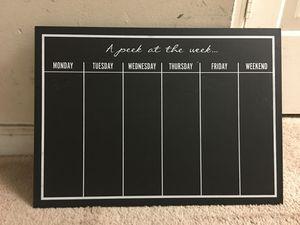 Weekly calendar blackboard for Sale in Alpharetta, GA