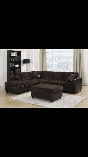 Beautiful new sectional sofa & ottoman only 799$!!! for Sale in San Leandro, CA