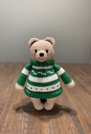 Handmade and crocheted Stuffed Sweater Bear for Sale in Houston, TX