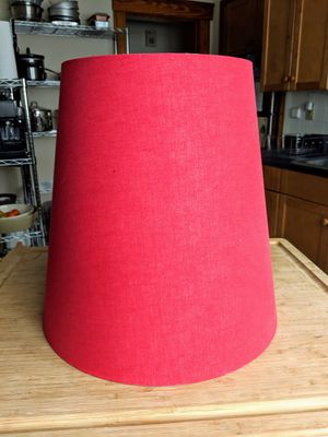 Red Lamp shade for Sale in Boston, MA