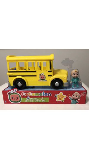 Cocomelon Musical Yellow School Bus Plays Music JJ Figure Toy Wheels On The Bus for Sale in Los Angeles, CA
