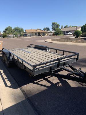 16ft flat bed car hauler for Sale in Peoria, AZ