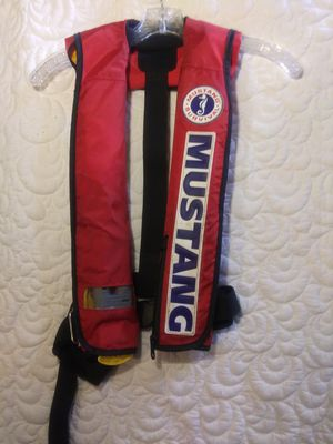 Mustang PFD (personal flotation device) automatic inflatable life preserveing vest for Sale in Tyler, TX