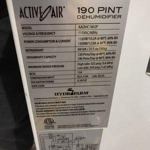 Active Air 190 Pint Dehumidifier for Sale in Huntington Beach, CA