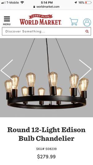 World market Edison chandelier. Retail $279.00 for Sale in Rockville, MD