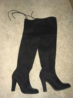 Thigh high black boots 7.5 for Sale in Alexandria, VA