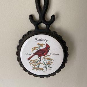 Kentucky Cardinal Cast Iron Potholder for Sale in Anaheim, CA