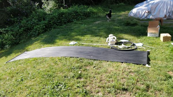 Passive solar heater 4'x 20' for pools, with all you need to plug and play