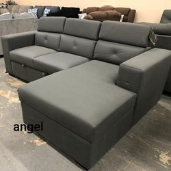 🎁BRAND NEW 🎗Salado Gray Sleeper Sectional with Storage for Sale in Laurel,  MD
