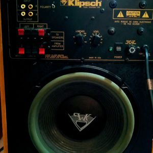 3 Klipsch Legend n Sound Speakers. 1 Subwoofer And 2spekers. Model SW8-11 ( The 2 Is In A Roman Numeral for Sale in St. Petersburg, FL