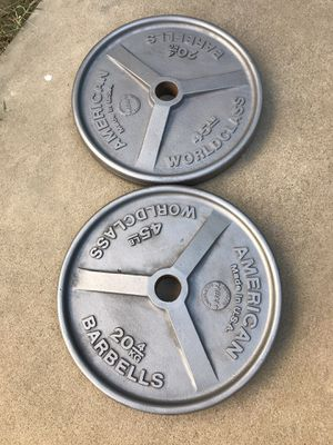 Olympic Weights 45lb for Sale in Fountain Valley, CA