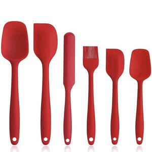 NEW 6 Piece Non-Stick Rubber Spatula Set with Stainless Steel Core - Heat-Resistant Spatula Kitchen Utensils Set for Cooking, Baking and Mixing - Red for Sale in Alhambra, CA
