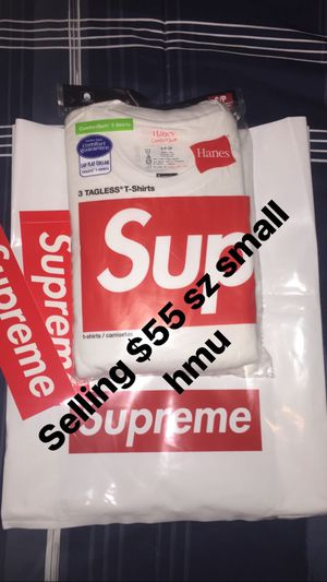Supreme x Hanes tagless shirts three pack sz small for Sale in Winter Haven, FL