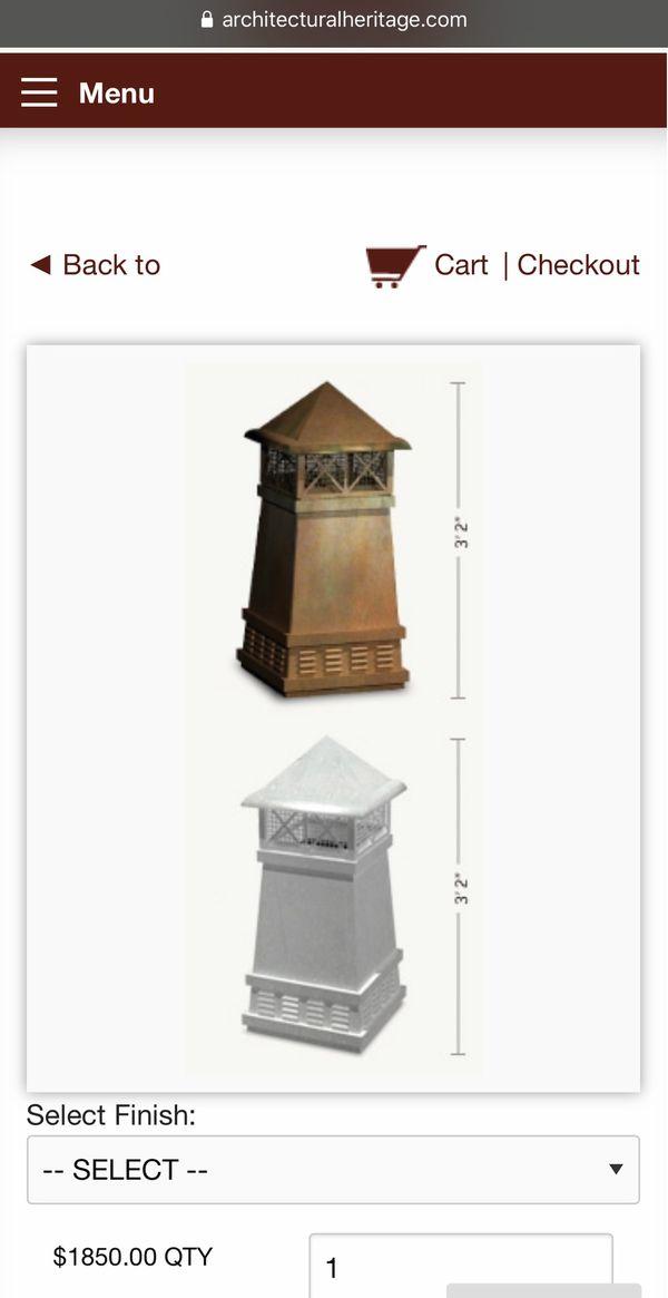 "CopperCraft Knight II Chimney Cap (13""x13"")"