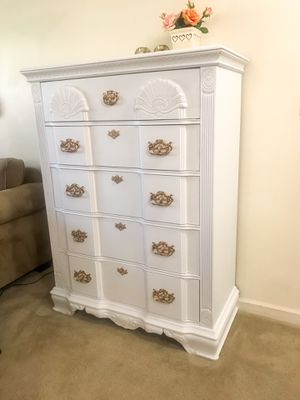 Kathy Ireland tall dresser with 5 drawers for Sale in Purcellville, VA