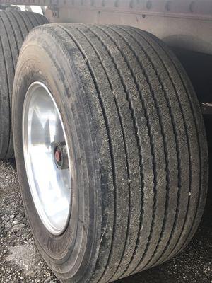 4 Michelin XONE Trailer tires and 1 Bridgestone for Sale in Countryside, IL