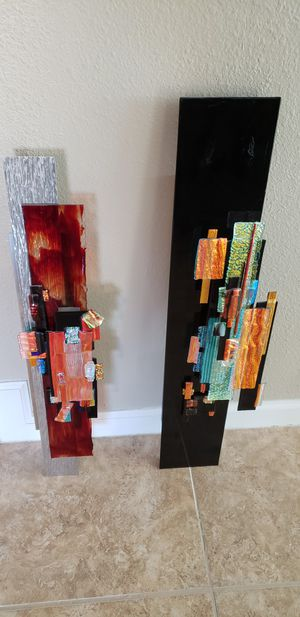 Colored glass wall hangings for Sale in Phoenix, AZ
