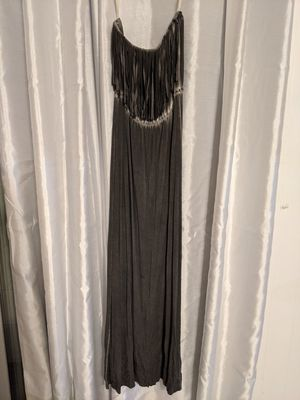 Ripcurl Dress, Maxi Dress, boho maxi dress, grey maxi dress, Fringe maxi dress. for Sale in Orlando, FL
