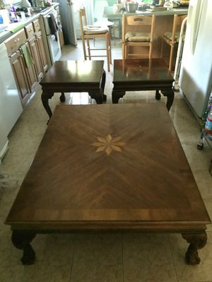 1 coffee table and 2 end tables for Sale in Boston, MA