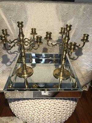 Vintage Brass Candelabras Set of 2 for Sale in Tampa, FL