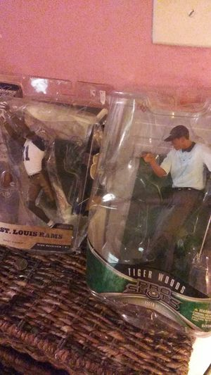 Torry Holt and Tiger woods action figure for Sale in Nashville, TN
