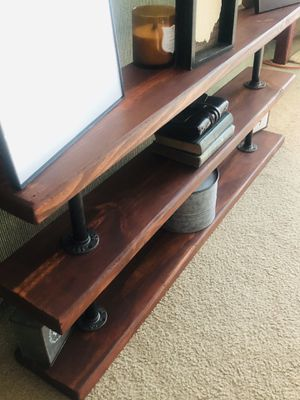 Industrial Reclaimed Wood Bookshelf Cognac Finish for Sale in Akron, OH