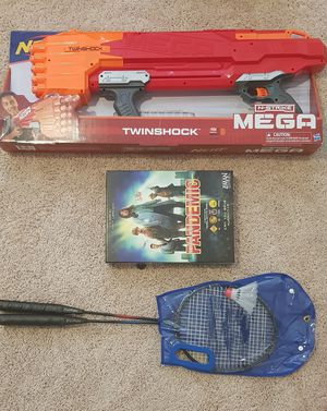 Need N-Strike Mega,Twin Shock, Badminton with two shuttle, Pendamic board game for Sale in Houston, TX