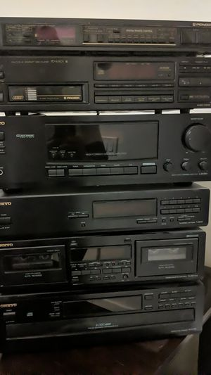 Pioneer and onkyo components deck, cd player, radio and receiver for Sale in Queen Creek, AZ