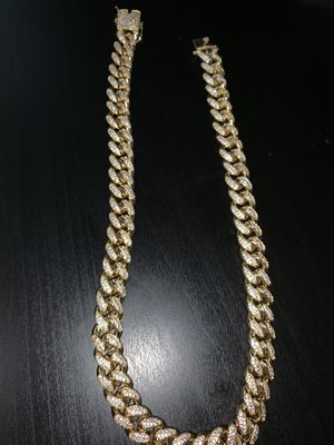 14k gold plated cuban link chain for Sale in Meriden, CT