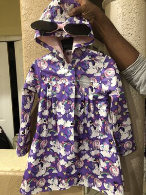 Kids Disney Raincoat AND matching boots $40 for Sale in Miami, FL