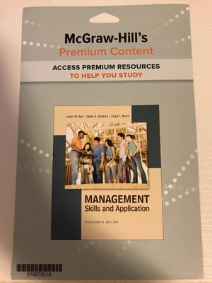Management: Skills and Application for Sale in Arcadia, CA