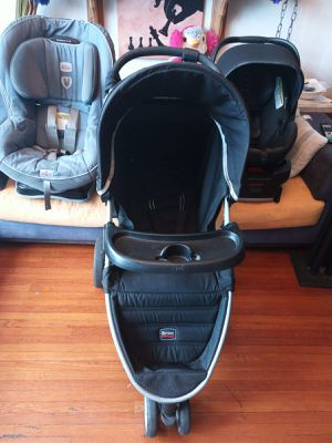 Britax complete set. Stroller, car seat for baby, and car seat for kids. In excellent conditions. for Sale in Queens, NY