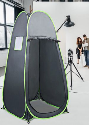 New in box 40x40x75 inches tall ez pop up portable camping dressing outdoor changing room grey color with roll up door carrying bag for Sale in Baldwin Park, CA