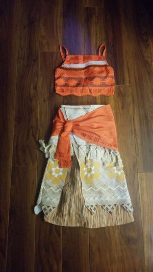 Disney Moana Costume Girls Size 7/8 for Sale in Webster, TX