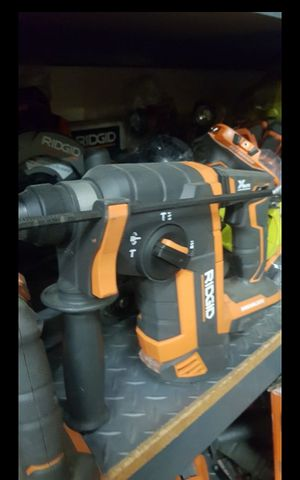 "RIDGID 18 CORDLESS 1""IN SDS PLUS ROTARY HAMMER TOOL ONLY LIKE NEW for Sale in San Bernardino, CA"