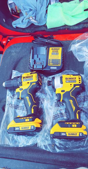 Dewalt Atomic Drill Set with (2) Xr 2.0 Batteries and Charger Brand New Never Used for Sale in Fresno, CA