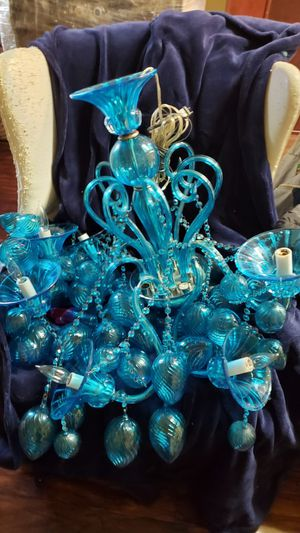 Glass chandelier large for Sale in Lakewood, CA