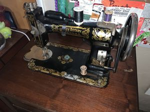 Antique White Rotary Sewing Machine and Table for Sale in Dinuba, CA