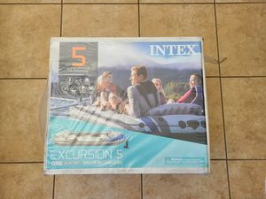 Intex Excursion 5 Inflatable Rafting and Fishing Boat for Sale in Elk Grove, CA