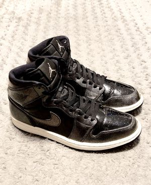 "Mens Air Jordan 1 retro high paid $190 size 11 Great condition! Air Jordan Antigravity 1 Retro High ""Black Patent"" Air Jordan style# 332550 black/bla for Sale in Washington, DC"
