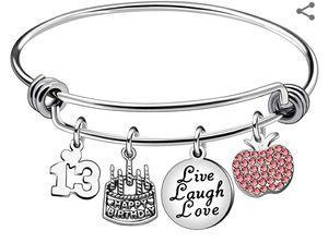 Girls Adjustable Stainless Steel Bracelet. 13th Birthday for Sale in Atlanta, GA