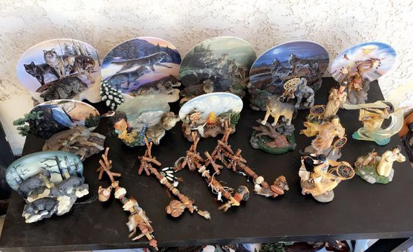Native American Collectible Statues & Sculptures