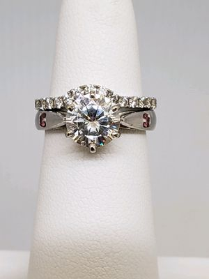 Moissanite and Diamond Engagement Ring and Wedding Band for Sale in Chicago, IL