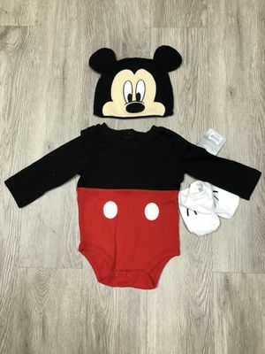 Mickey Mouse Costume Bodysuit for Baby 9-12 months for Sale in Lynden, WA