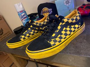 Yellow/black checkered vans size 7 .5 men's for Sale in Lancaster, MA